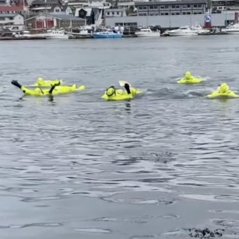 Video: Í flótidrakt yvir um vágna eftir fisk og kips