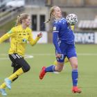 Maria Biskopstø skoraði málið til 1-0 móti HB (Savnsmynd: Sverri Egholm)