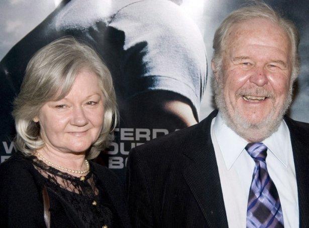Ned Beatty og konan, Sandra Johnson (Mynd: EPA)