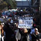 Myndir: Mótmælisfólk krevja meira frælsi í Avstralia