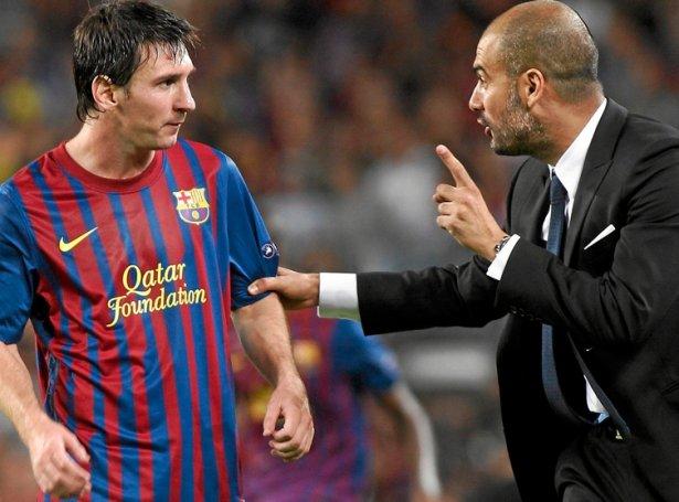 Guardiola var venjari hjá FC Barcelona, tá Lionel Messi lyfti seg upp til at vera heimsins besta leikara. Nú hava teir heimstað í ávíkavist Onglandi og Fraklandi