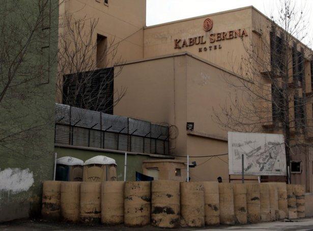 Kabul Serena Hotel í afghanska høvuðsstaðnum (Mynd: EPA)