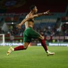 Cristiano Ronaldo hevur nú skorað 115 mál í 182 A-landsdystum fyri Portugal (Mynd: EPA)