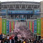 EM-finalan varð spæld á Wembley í London 11. juli (Mynd: EPA)